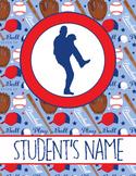 BASEBALL - Classroom Decor : Student FOLDER Cover - FREE