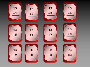 BASIC ADDITION FLASH CARDS (153 CARD SET)