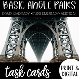 BASIC ANGLE PAIRS Task Cards and Google Form DISTANCE LEARNING