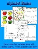 BASIC Alphabet Curriculum for Preschool and Kindergarten - 12 sets Letters O - Z