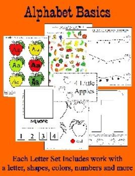 BASIC Alphabet Curriculum for Preschool and Kindergarten - 14 sets Letters A - N