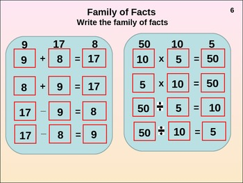 Basic Facts: Family of Facts (animated)