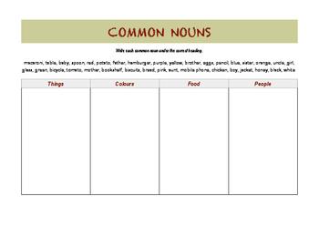 BASIC & FUN - Common Nouns Sorting Activity
