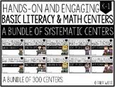 BASIC Literacy and Math Centers BUNDLED