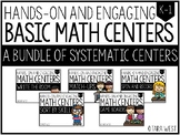 BASIC Math Centers Bundle * * 50% off for 24 HRS * *