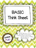 BASIC Think Sheet