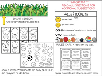 BASKETBALL  ARTICULATION  SPEECH  worksheets SPATIAL CONCEPTS LOW PREP NO PREP