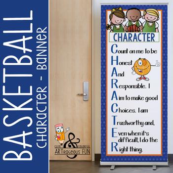 BASKETBALL - Classroom Decor: LARGE BANNER, CHARACTER