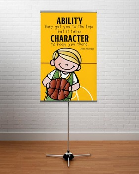 BASKETBALL - Classroom Decor: MEDIUM BANNER, Ability May Get You