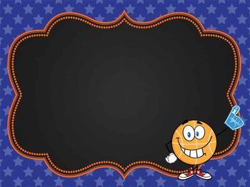 BASKETBALL - Classroom Decor: editable chalkboard POSTERS / Bistro Chalk Markers