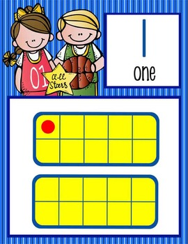 BASKETBALL - Number Line Banner, 0 to 20, Illustrated
