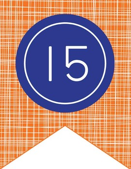 BASKETBALL - Number Line Banner, 1 to 25, EDITABLE to continue