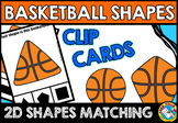 BASKETBALL MATH CENTER (2D SHAPES KINDERGARTEN ACTIVITY) GEOMETRY GAME