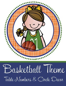 BASKETBALL - Table Numbers and Circle Decorations