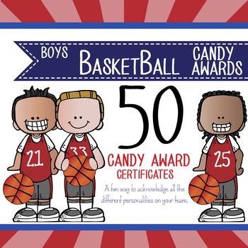 basketball boys candy award certificates editable ms power point