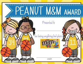 BASKETBALL - girls - Candy Award Certificates - editable MS Power Point