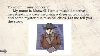 "BASS Clef PPT Game Music Detective #4 ""Case of the Disoriented Dancer"" SPRING"