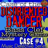 "*BASS Clef Game Music Detective #4 ""Case of the Disoriented Dancer"" PPT/SMART"