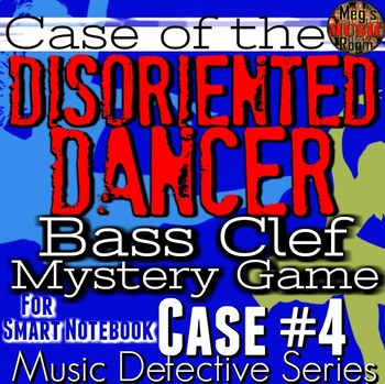 "BASS Clef SMARTBRD GAME Music Detective 4""Case of the Disoriented Dancer""SPRING"