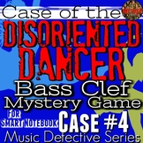 "BASS Clef GAME Music Detective 4 ""Case of the Disoriented Dancer"" PPT/SMART"