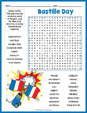 BASTILLE DAY French History Word Search Puzzle Worksheet Activity