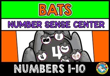 HALLOWEEN ACTIVITIES KINDERGARTEN (FALL MATH CENTER) BATS NUMBER SENSE GAME 1-10
