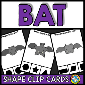 HALLOWEEN ACTIVITY PRESCHOOL (BAT MATH KINDERGARTEN SHAPES RECOGNITION CENTER)