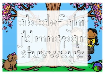 BAT BALL STICK colour ALPHABET tracing templates  5 designs