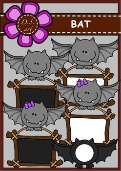 BAT Digital Clipart (color and black&white)