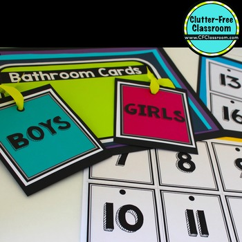 BATHROOM CARDS for CLASSROOM MANAGEMENT