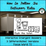 BATHROOM RULES BACK TO SCHOOL EMERGENT READER