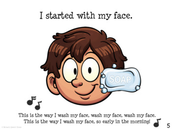 BATHTIME BOOK & POSTER Speech Therapy PRE-K EARLY READER