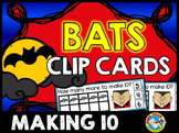 HALLOWEEN ACTIVITIES KINDERGARTEN BAT MATH CENTERS (MAKING 10 GAME CLIP CARDS)