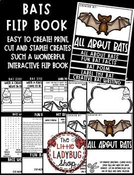 All About Bats Flip Book - Fall Activity