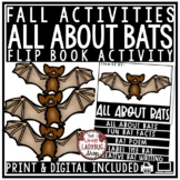 All About Bats Flip Book - Fall Writing Activity Bats Science Activities