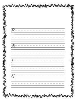BATS Acrostic Poem Template