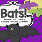 BATS Number and Literacy Centers and Games for Preschool and Pre-K 115 pgs