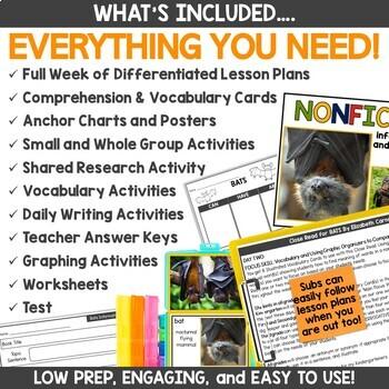 BATS Nonfiction Read Aloud Book Activities with Lesson Plans