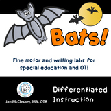 Bats Fine Motor and Writing Activities (Special Education