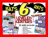BATS and RATS! 6 Math centers, 25 skills, 5 levels