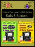 BATS and SPIDERS Comprehension Suffix Contractions Task Cards Foldables