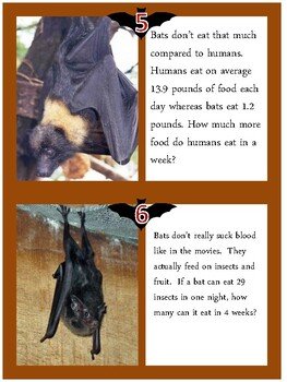BATS word problems activity - great for grades 3-5