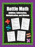 BATTLE MATH- Basic Operations: Grades 4-6, 5.NBT.5 5.NBT.6
