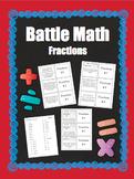 BATTLE MATH- Fractions for Grades 3-5