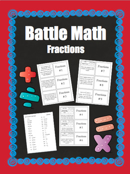 BATTLE MATH- Fractions for Grades 3-5
