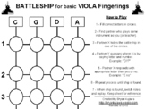 BATTLESHIP for basic CELLO fingerings