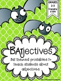 BATjectives {Bat themed adjective activities}