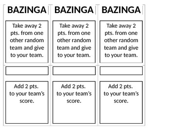 BAZINGA Review Game