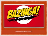 BAZINGA Review Game - Great graphics & includes video clips! (Keynote Version)