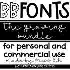 BB Fonts- The GROWING Bundle
